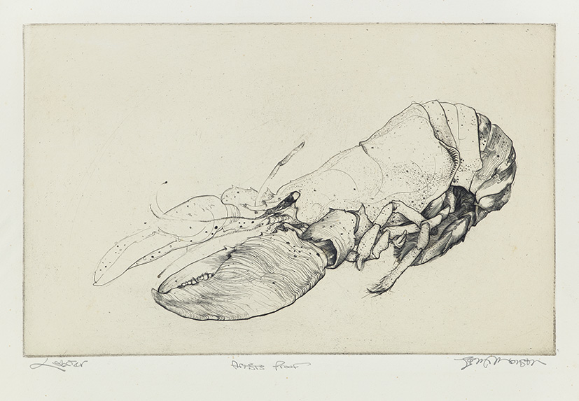 Gravure de Jim Monson : Homard / Lobster