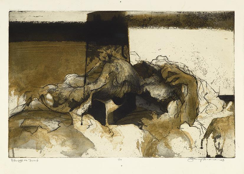Gravure de Jim Monson : Hommage à Mort / Homage to Mort