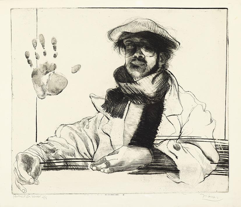 Gravure de Jim Monson : Portrait d'Hiver / Portrait for Winter
