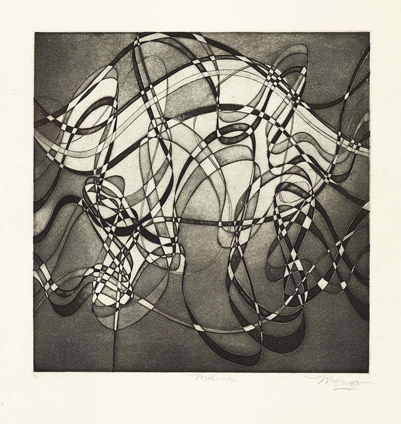 Gravure de Jim Monson : Medusa