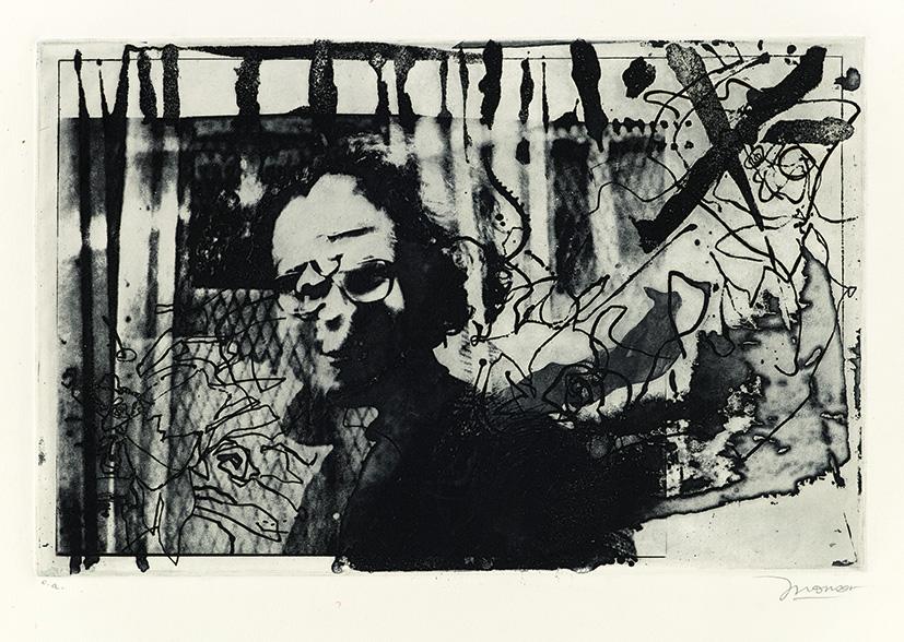 Gravure de Jim Monson : Auto-Portrait / Self Portrait