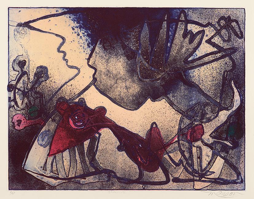 Gravure de Jim Monson : Alchemiste / The Alchemist