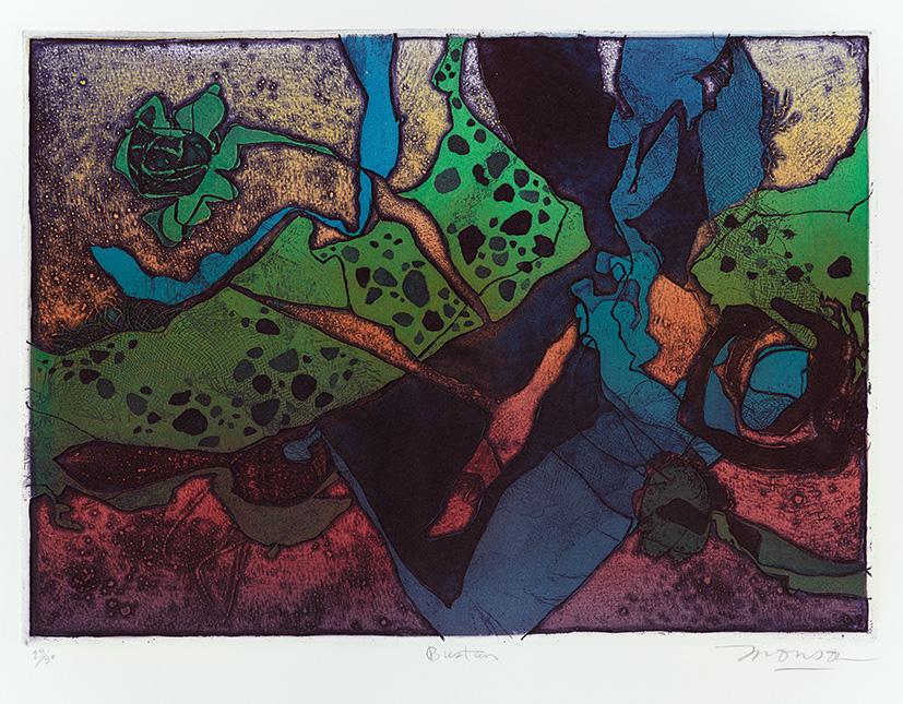 Gravure de Jim Monson : Bustan