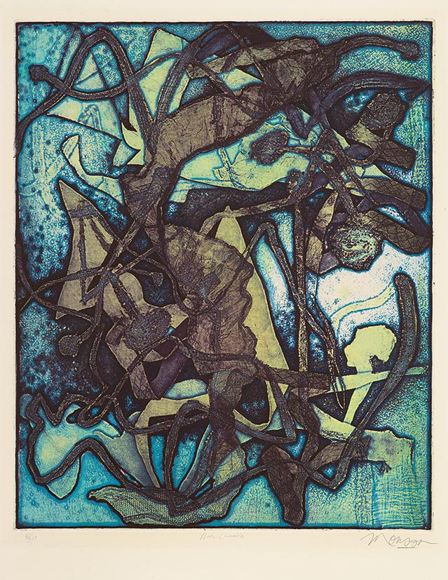 Gravure de Jim Monson : Flore Lunaire / Lunar Flower