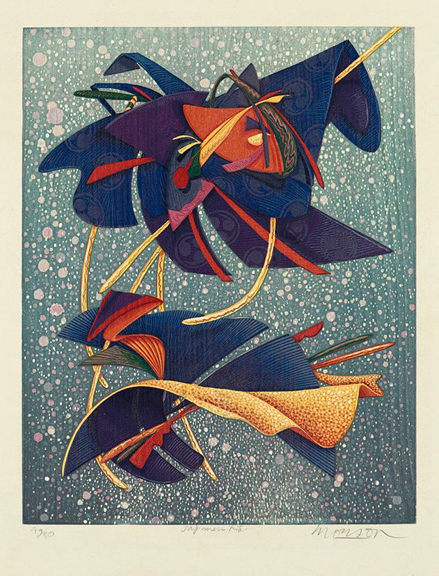 Bois grave de Jim Monson : Cerf-volant Japonais / Japanese Kite