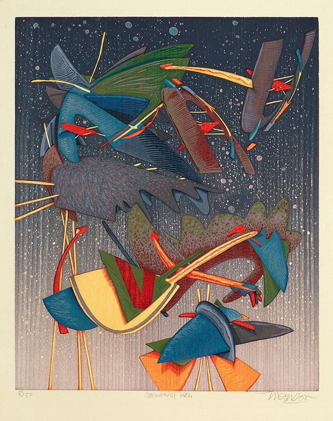 Bois grave de Jim Monson : Cerf-volant Ceremonial / Ceremonial Kite