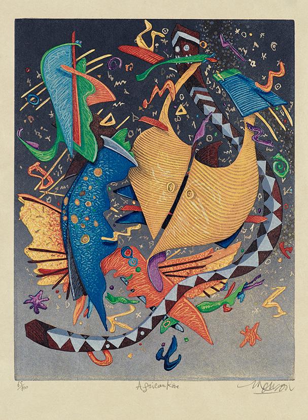 Bois grave de Jim Monson : Cerf-volant Africain / African Kite