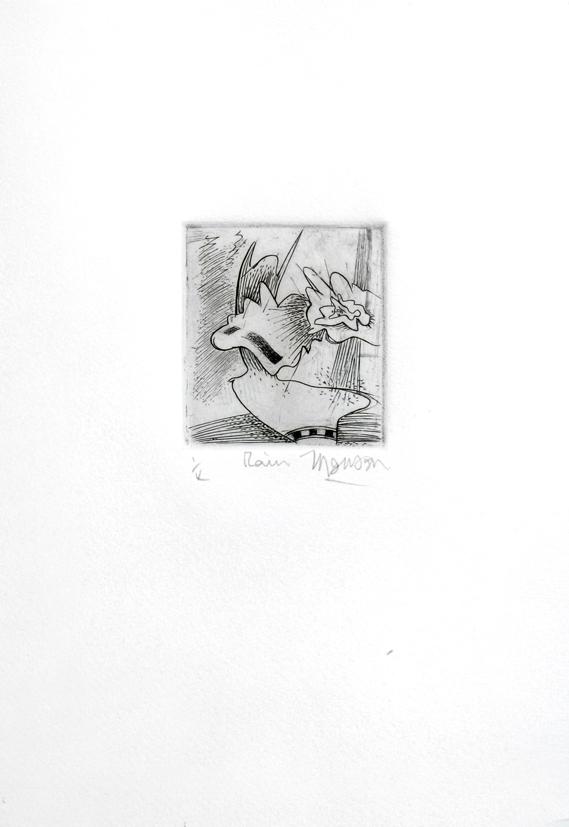 Gravure de Jim Monson : Pluie / Rain