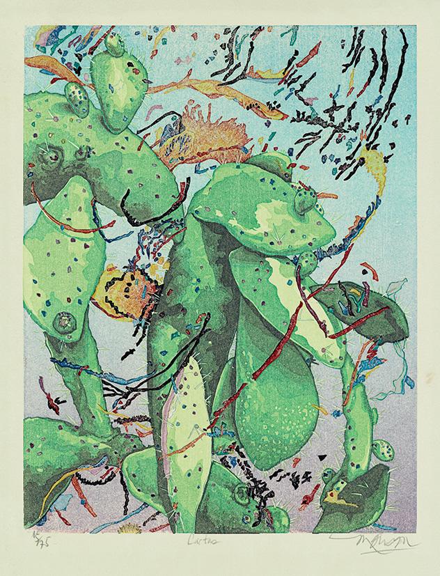 Bois grave de Jim Monson : Cactus