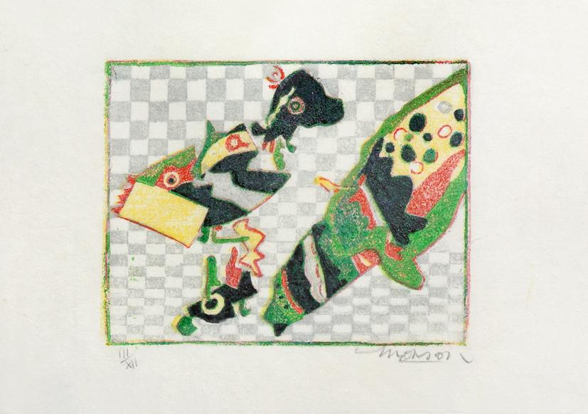 Bois gravé de Jim Monson : Trois Formes / Three Forms