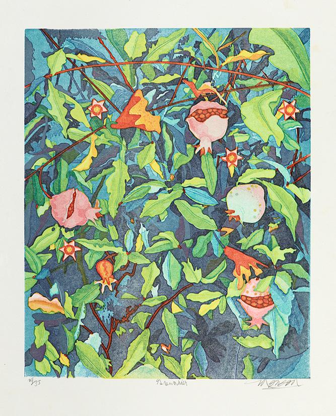 Bois grave de Jim Monson : Grenadier / Pomegranates