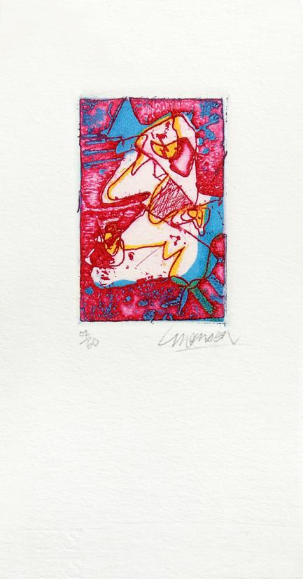 Gravure de Jim Monson : Forme blanche / White Form