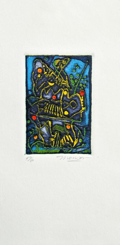Gravure de Jim Monson : Eclair de lumière / Flash Light