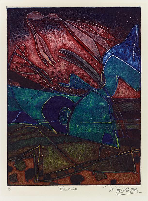 Gravure de Jim Monson : Phoenix