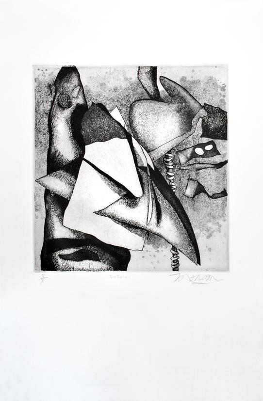 Gravure de Jim Monson : Totem