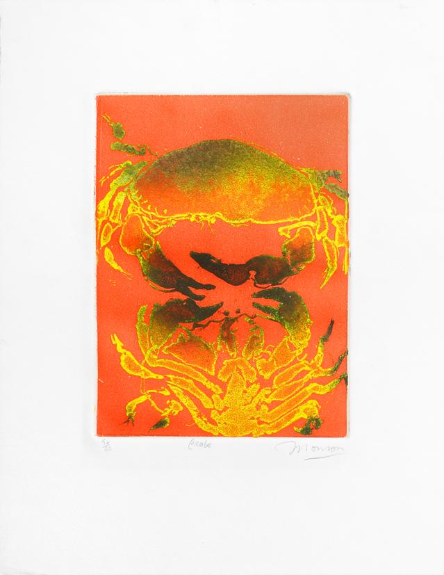 Gravure de Jim Monson : Crabe / Crab
