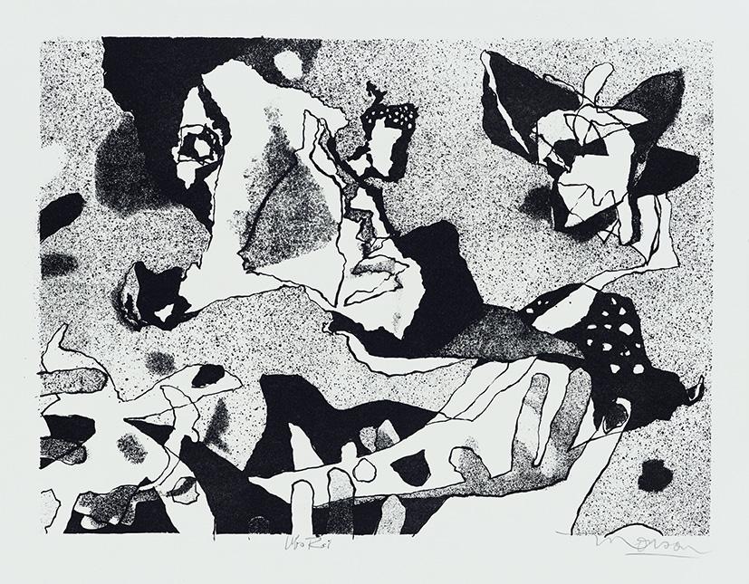 Lithographie de Jim Monson : Ubu Roi